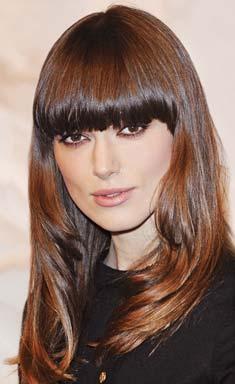 modelos de franjas nos cabelos